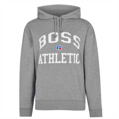 Boss x Russell Athletic Safa Hoodie Men's Mid Grey 034 The Top Selling 6S07Q1454