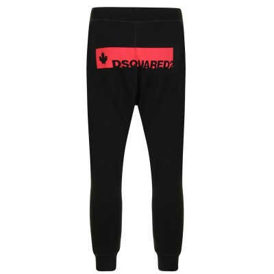 DSQUARED2 Cool Fit Jogging Bottoms Mens Blk/Red 900 SMU Selling Well XHN7P8890