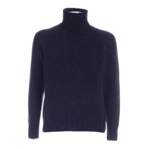 Ps by Paul Smith Men's Speckle turtleneck in blue Fitted 1TLH3229