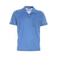 Canali Patch pocket polo shirt in blue  7TFBWEDV