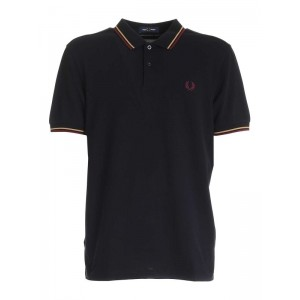 Fred Perry Men Embroidered logo polo in black Collection WPEMTVEJ