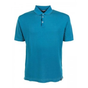 Jacob Cohen Men's Short-sleeved polo shirt in turquoise 2XL The Top Selling DGJEF64Z