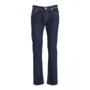 Jacob Cohen Men Contrasting stitching jeans in blue Style 2YWJVR6X