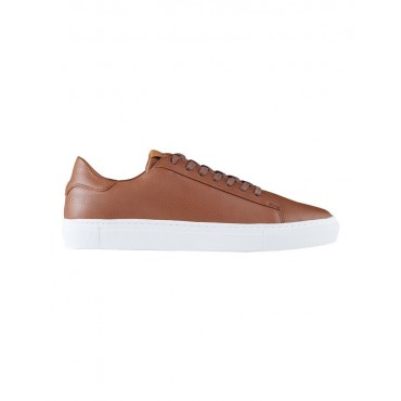 Aquila Men Deco Leather Sneakers Tan on style BLETWNJ - Leather Upper / Rubber Sole