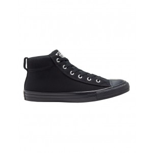Converse Men Chuck Taylor All Star Street Sneakers Black New Look PSXEFKH - Polyester/Suede