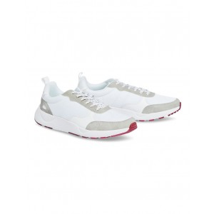 Johnny Bigg Men's Hiker Panel Sneaker WHITE New Arrival MDZIYPV - Upper: Synthetic Leather & Textile; Lining: Leather; Sole: Rubber