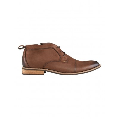 AQ by Aquila Men Oldman Leather Chukka Boots Brown Size 12 Fit SDALOGF - Leather Upper/Synthetic Sole