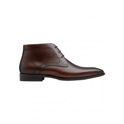 AQ by Aquila Men Raydon Leather Ankle Boots Brown Discount JXGIWBQ - Leather Upper/Synthetic Sole