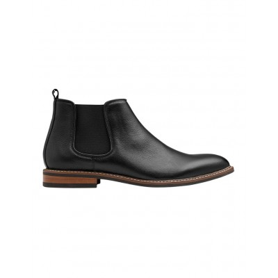 AQ by Aquila Men's Lucca Leather Chelsea Boots Black Size 9 UKXYMUJ -
