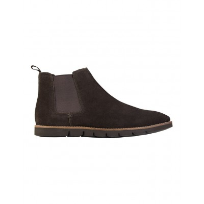 AQ by Aquila Men's Mansfield Suede Chelsea Boots Brown Large Size On Sale FBUAUCZ - Suede Upper/Rubber Sole