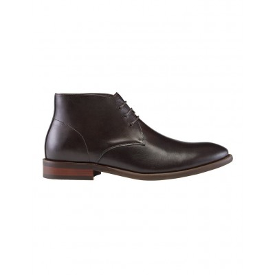AQ by Aquila Men's Myles Leather Ankle Boots Brown Wide Feet guide NXRIYVI -
