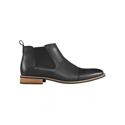 AQ by Aquila Men's Ortiz Leather Chelsea Boots Black Novelty online shopping JOYWQBO - Leather Upper / Synthetic Sole