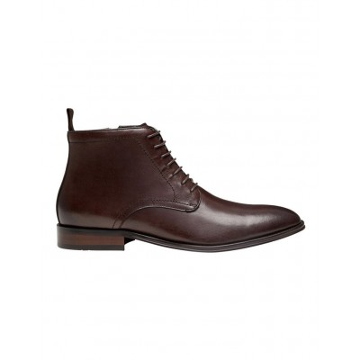 AQ by Aquila Mens Utah Leather Ankle Boots Brown Size 14 PQXPPGM - Leather Upper / Rubber Sole