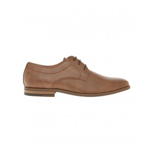 Blaq Men's Michael Perf Derby Lace Up Shoe Tan NBEUYBE -