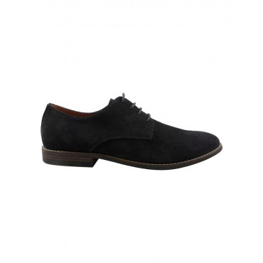 Blaq Men's Nick Suede Perforated Lace Up Derby Shoe Charcoal the best JSNLLVX -