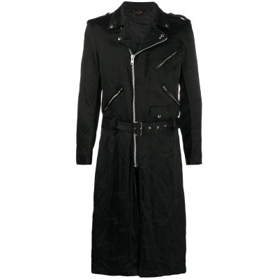 Black Comme Des Garçons Men's 'Strong Will' Trenchcoat Tall Size At Target AJUL985